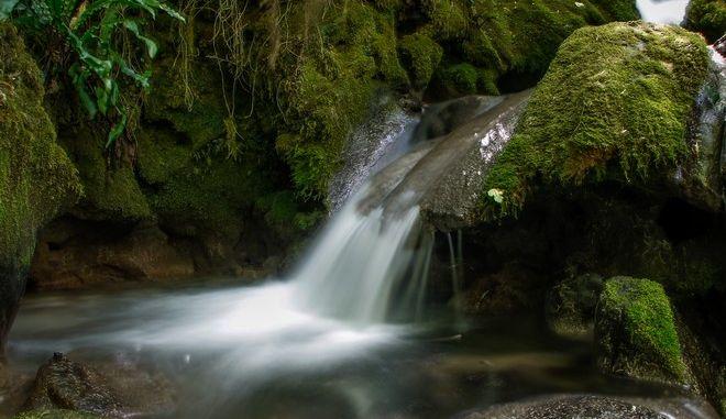 Τα νερά του Κεφαλοπόταμου στην πλαγιά του βουνού Κόζιακας λίγο έξω από το χωριό Γοργογύρι του νομού Τρικάλων