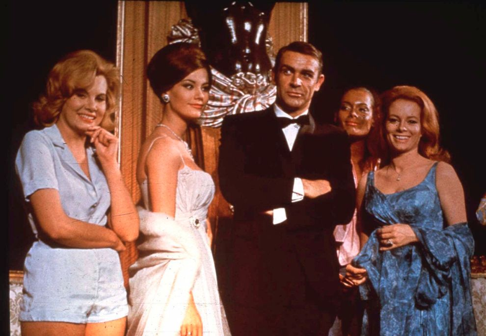 FILE - In this undated file photo, Sean Connery, as James Bond, poses in an event for the movie 'Thunderball'.   Scottish actor Sean Connery, considered by many to have been the best James Bond, has died aged 90, according to an announcement from his family. (AP Photo, FILE)