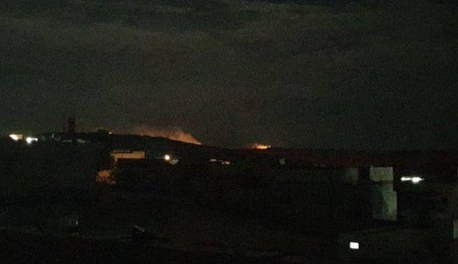 Το σημείο στο Κομπάνι που βομβάρδισαν οι Τούρκοι πλησίον της αμερικανικής βάσης