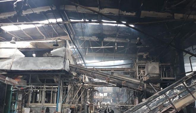 Θεσσαλονίκη: Ολοκληρωτική καταστροφή στο εργοστάσιο ανακύκλωσης στη Σίνδο