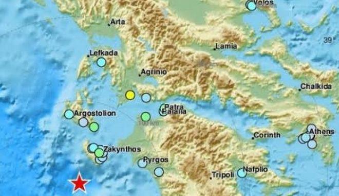 Σεισμός 6,4 ρίχτερ ανοιχτά της Ζακύνθου