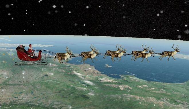 NORAD: Το ταξίδι του Αη Βασίλη ξεκίνησε