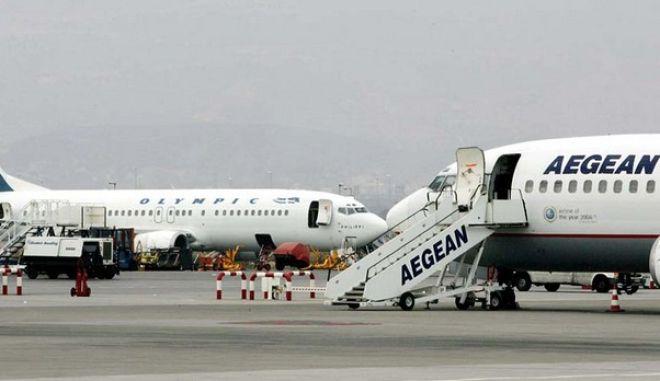 Kανονικά οι πτήσεις της Aegean και της Olympic Air