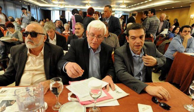 Στιγμιότυπο από την συνεδρίαση της ΚΠΕ του ΣΥΡΙΖΑ/ΕΚΜ το Σάββατο 13 Απριλίου 2013. (EUROKINISSI/ΑΝΤΩΝΗΣ ΝΙΚΟΛΟΠΟΥΛΟΣ)