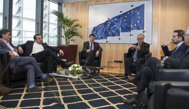 European Commission President, Jean-Claude Juncker, meets the Greek Prime Minister Alexis Tsipras in Brussels, on June 3, 2015. /                ,  3  2015.