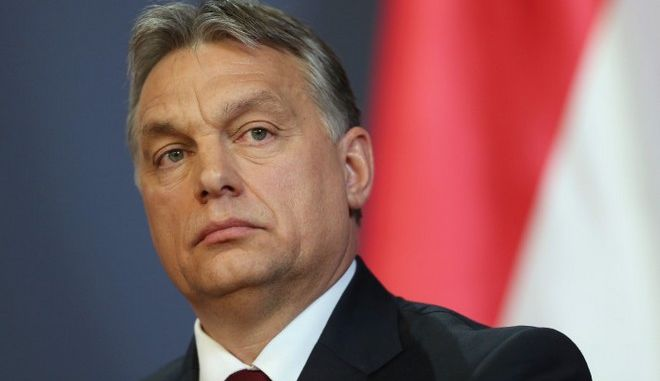BUDAPEST, HUNGARY - FEBRUARY 17:  Hungarian Prime Minister Viktor Orban speaks to the media with Russian President Vladimir Putin at Parliament on February 17, 2015 in Budapest, Hungary. Putin is in Budapest on a one-day visit, his first visit to an EU-member country since he attended ceremonies marking the 70th anniversary of the D-Day invasions in France in June, 2014.  (Photo by Sean Gallup/Getty Images)