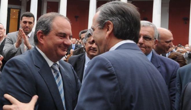 Παρουσίαση του οικονομικού προγράμματος της Ν.Δ. από τον πρόεδροτου κόμματος Αντώνη Σαμαρά, στο Ζάππειο, Κυριακή 22 Απρ. 2012.