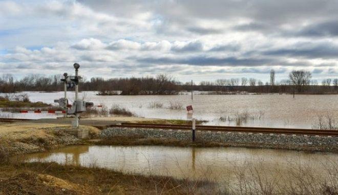 'Λίμνη' 40.000 στρέμματα γης στις Σέρρες. Στο 'κόκκινο' η στάθμη του νερού σε Κερκίνη και Έβρο