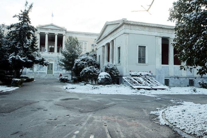 Χιόνια σε Κυψέλη - Φωκίωνος Νέγρη / Πολυτεχνείο - Μονή Πετράκη