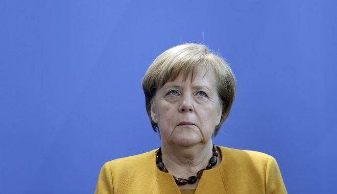 Η Γερμανίδα καγκελάριος Άνγκελα Μέρκελ σε εκδήλωση στο Βερολίνο