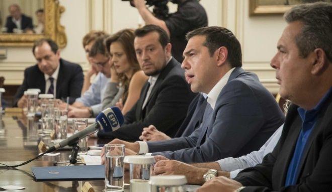 Συνεδρίαση του υπουργικού συμβουλίου υπό τον πρωθυπουργό Αλέξη Τσίπρα