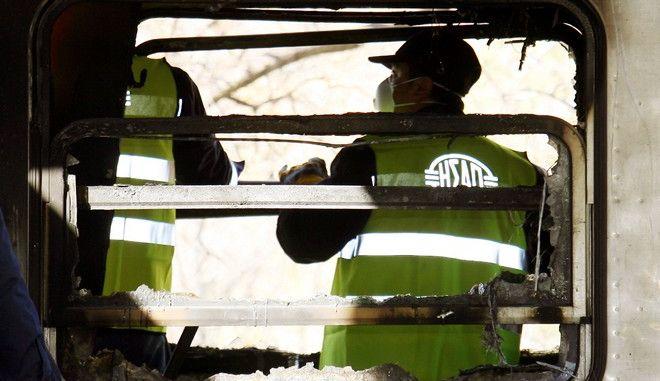 Καταστροφές σε βαγόνι του ηλεκτρικού σιδηροδρόμου - Φωτογραφία αρχείου
