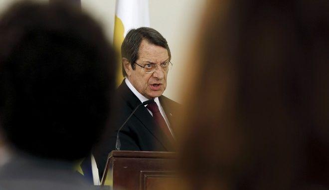 O Πρόεδρος της Κυπριακής Δημοκρατίας Νίκος Αναστασιάδης