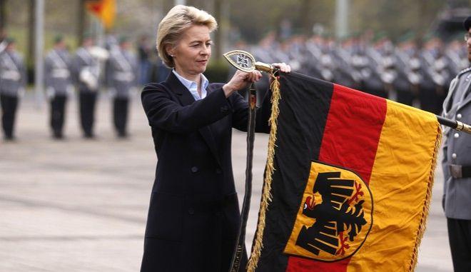 Η Γερμανίδα υπουργός Άμυνας Ούρσουλα φον ντερ Λάιεν