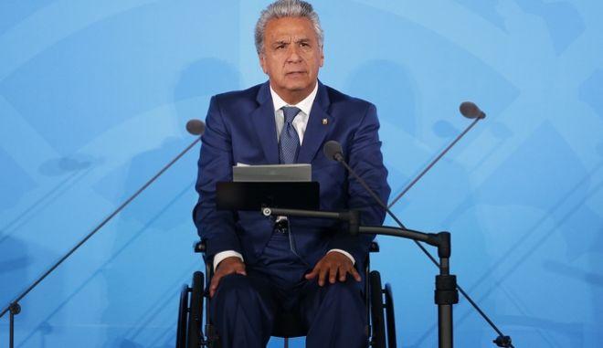 Ο πρόεδρος του Εκουαδόρ, Λένιν Μορένο