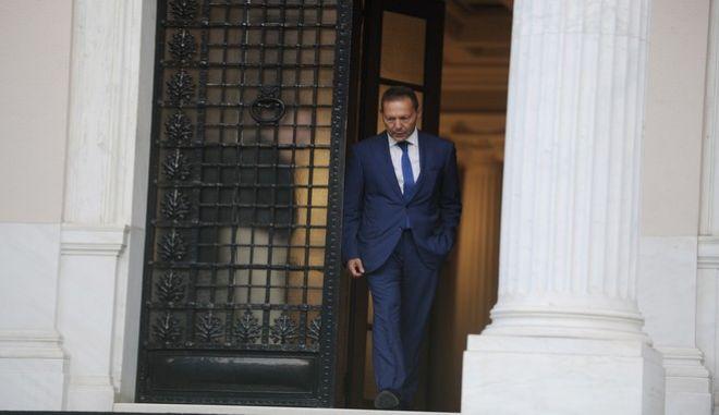 ΑΘΗΝΑ-Συνάντηση του πρωθυπουργού Αλέξη Τσίπρα με τον διοικητή της Τράπεζας τη Ελλάδος Γιάννη Στουρνάρα, στο Μέγαρο Μαξίμου.(Eurokinissi-ΜΠΟΛΑΡΗ ΤΑΤΙΑΝΑ )