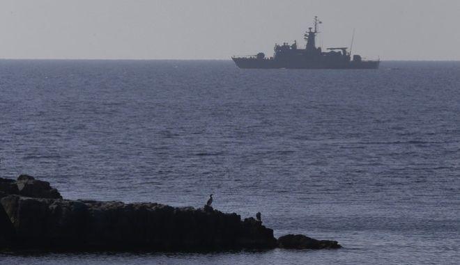 Πλοίο του Πολεμικού Ναυτικού στο Αιγαίο