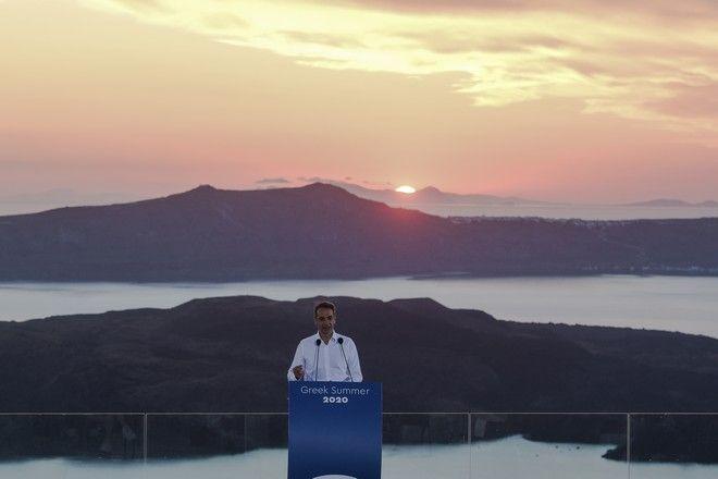 Συνέντευξη τύπου του Πρωθυπουργού για το ζήτημα του τουρισμού στη Σαντορίνη