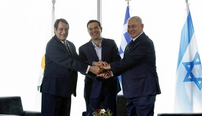 Trilateral Greece  Cyprus  Israel summit with the participation of the Greek Prime Minister Alexis Tsipras, the Cypriot President Nicos Anastasiades and the Israeli Prime Minister Benjamin Netanyahu, in Thessaloniki, Greece on June 15, 2017. /    -  -      ,           ,  ,   15  2017.