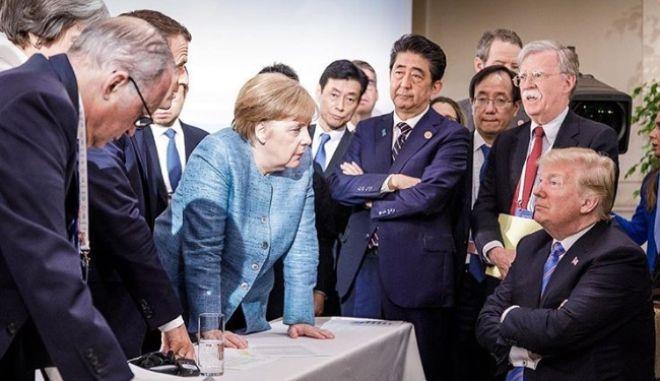 G7: Μια εικόνα που έδωσε στη δημοσιότητα η Μέρκελ, χίλια λόγια