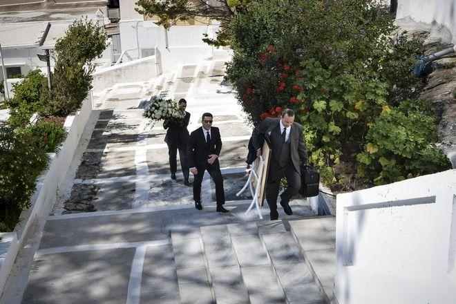 Κηδεία του επιχειρηματία Αλέξανδρου Σταματιάδη στην Άνδρο