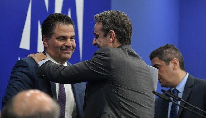 Ο Κυριάκος Μητσοτάκης και ο νέος Γραμματέας της Πολιτικής Επιτροπής της Νέας Δημοκρατίας κ. Γιώργος Στεργίου.