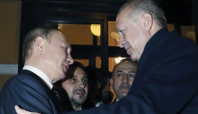 Ο Βλαντιμίρ Πούτιν και ο Ρετζέπ Ταγίπ Ερντογάν