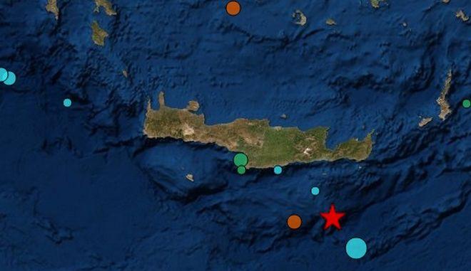 Σεισμός 5,9 ρίχτερ ανοιχτά της Κρήτης