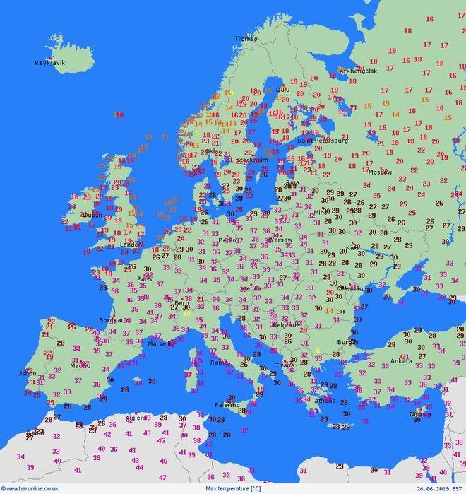 Ο χάρτης του καύσωνα στην Ευρώπη: Πώς εξελίσσεται το φαινόμενο