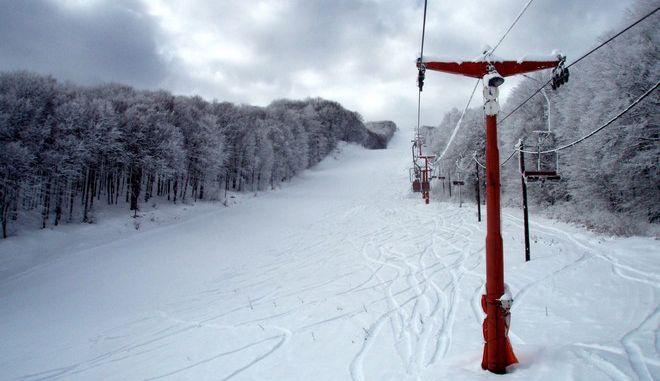 Στιγμιότυπο από το χιονισμένο Πισοδέρι της Φλώρινας και το Χιονοδρομικο Κέντρο την Τρίτη 25 Δεκεμβρίου 2012. (EUROKINISSI/ΤΗΛΕΜΑΧΟΣ ΚΟΚΚΟΣ)
