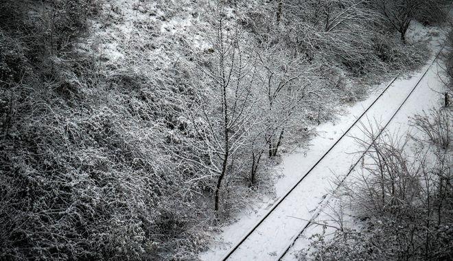 Χιονόπτωση στην πόλη της Κοζάνης.