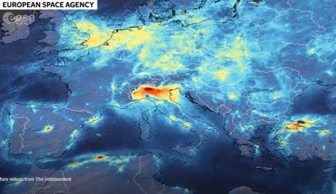 Βόρεια Ιταλία: Εντυπωσιακό Timelapse απεικονίζει τη δραματική μείωση της ατμοσφαιρικής ρύπανσης