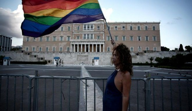 Protest rally organized by LGBT organisations against the new anti-racist bill. Athens, September 5, 2014 /              LGBT         . , 5 , 2014