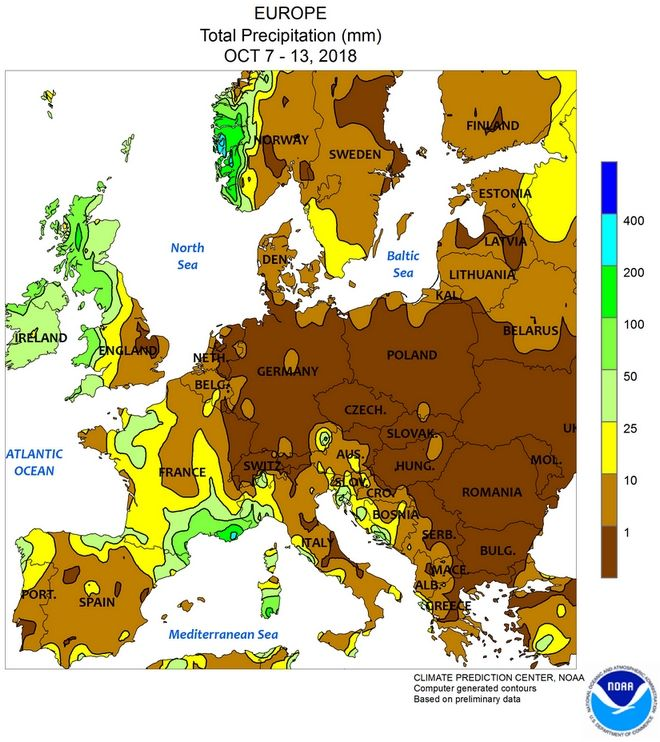 Μεγάλη ανομβρία στην Ευρώπη