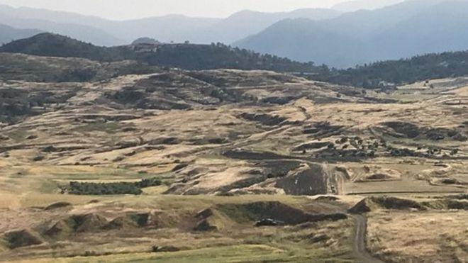 Πεδίο βολής Ορούντα - Το σημείο όπου βρέθηκε η τρίτη σορός