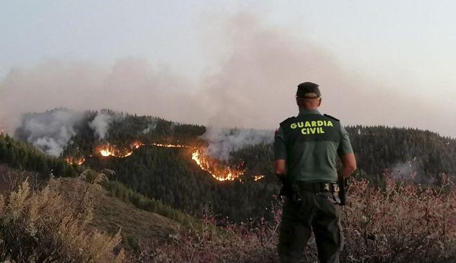 Φωτιά στο νησί Γκραν Κανάρια στην Ισπανία