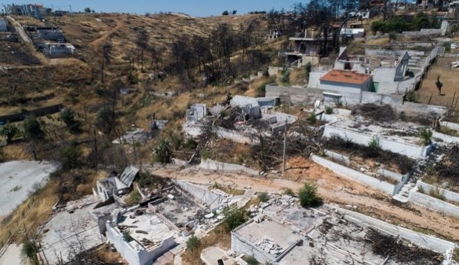 Αεροφωτογραφία, έναν χρόνο μετά την τραγωδία στο Μάτι