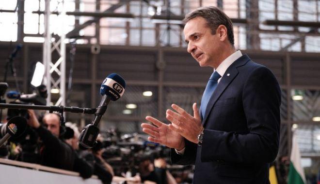Ο Πρωθυπουργός Κυριάκος Μητσοτάκης στις εργασίες του έκτακτου Ευρωπαϊκού Συμβουλίου με αντικείμενο το Πολυετές Δημοσιονομικό Πλαίσιο της Ευρωπαϊκής Ενωσης για την περίοδο 2021-2027, Αρχείο