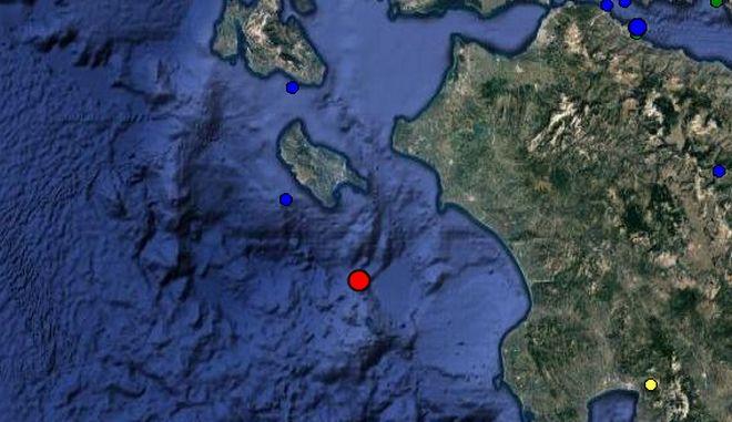 Σεισμός 4,1 Ρίχτερ νότια της Ζακύνθου
