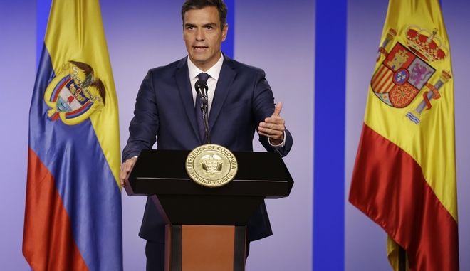O πρωθυπουργός της Ισπανίας Πέδρο Σάντσεθ