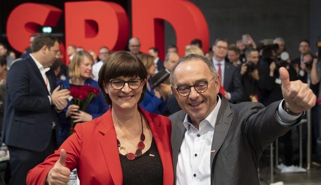 To νέο ηγετικό δίδυμο του SPD