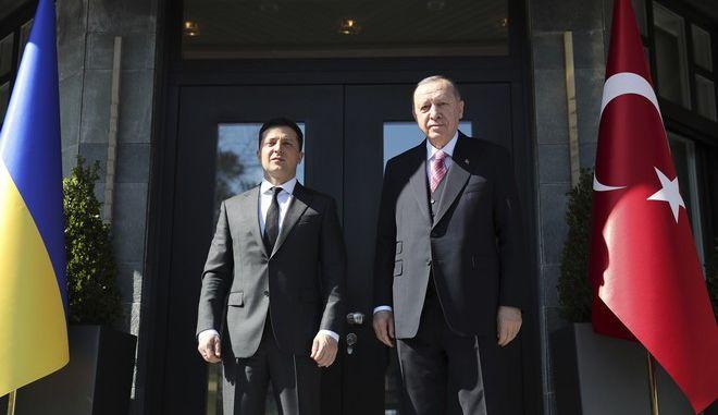 Ερντογάν και Ζελένσκι στην Κωνσταντινούπολη