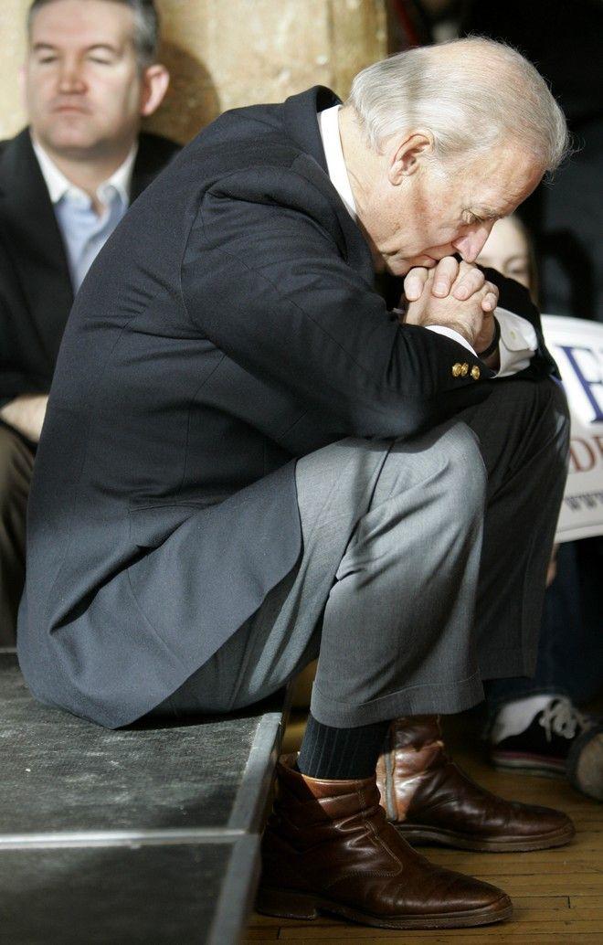 Ο Τζο Μπάιντεν σε προεκλογική συγκέντρωση τον Ιανουάριο του 2008