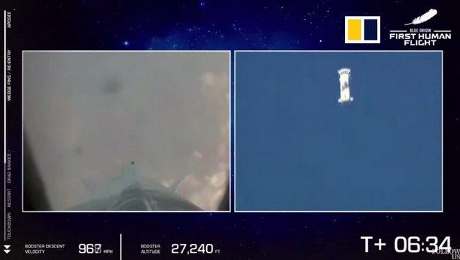 Ο Τζεφ Μπέζος και τα 11 λεπτά στο διάστημα - Δείτε βίντεο από την εκτόξευση