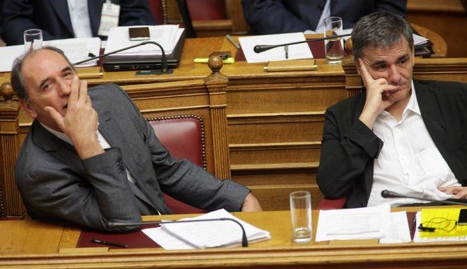 Συνεδρίαση των αρμόδιων επιτροπών της Βουλής σχετικά με το σχέδιο νόμου για τη συμφωνία με τους θεσμούς την Πέμπτη 13 Αυγούστου 2015. (EUROKINISSI/ΓΙΑΝΝΗΣ ΠΑΝΑΓΟΠΟΥΛΟΣ)