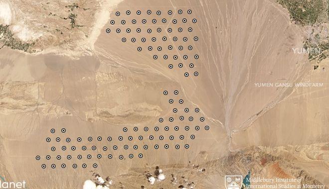 Φωτογραφία δορυφόρου, απεικονίζει σύμφωνα με αναλυτές των ΗΠΑ, πεδίο κατασκευής σιλό πυρηνικών πυραύλων.