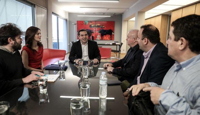 Συνάντηση του Προέδρου του ΣΥΡΙΖΑ Αλέξη Τσίπρα με την Ομοσπονδία Εργαζομένων ΟΤΕ.