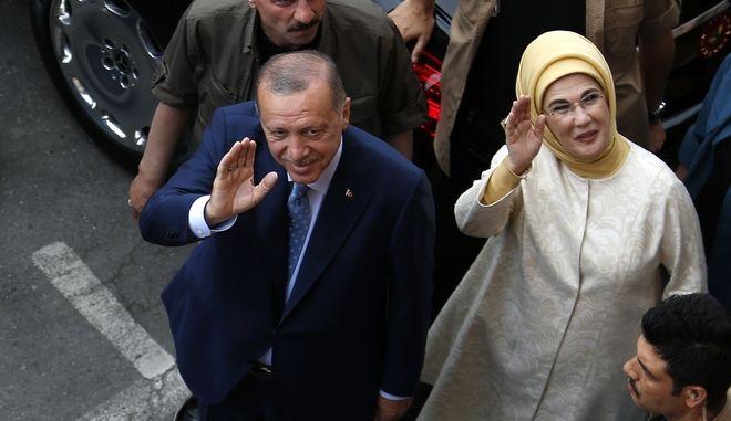 Ο Ερντογάν στις εκλογές