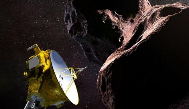 Καλλιτεχνική απεικόνιση του περάσματος του New Horizons από το Ultima Thule