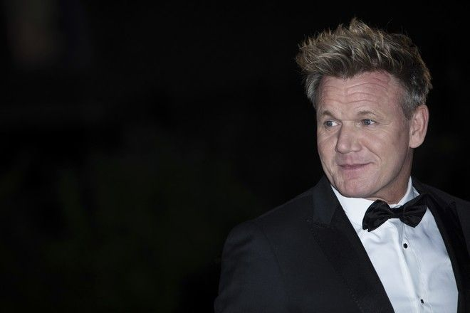 Gordon Ramsay poses for photographers upon arrival at the GQ's Men of The Year awards, in London, Tuesday, Sept. 5, 2017. (Photo by Vianney Le Caer/Invision/AP)